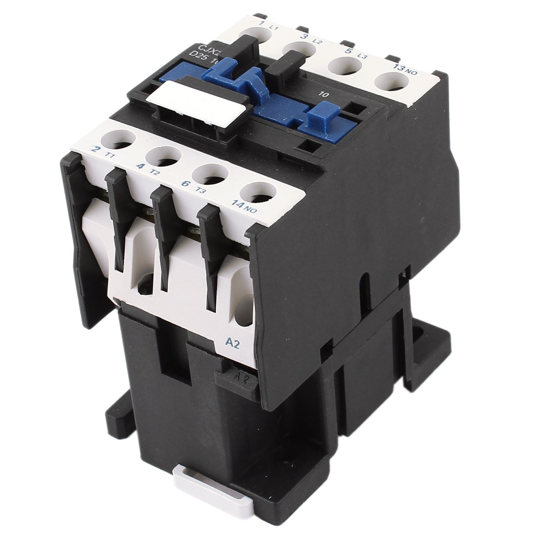 CJX2-2510 220V Coil 3 Poles 3P NO 35mm DIN Rail Mounting DIN Rail AC Contactor
