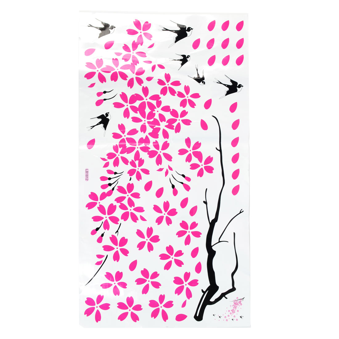 Tree Flower Pattern Wall Furniture Sticker Decals Decoration