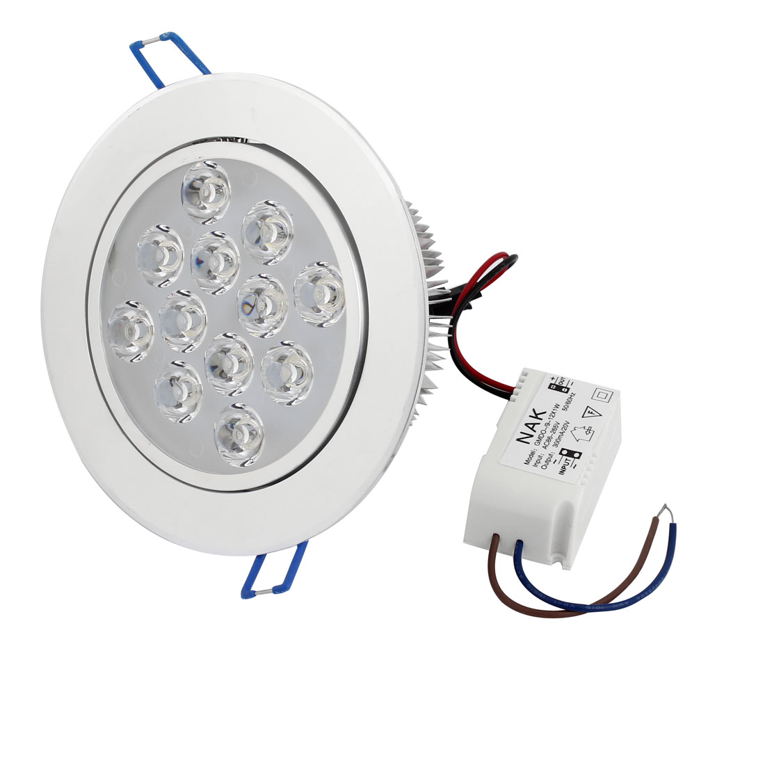 White LED Recessed Ceiling Down Spot Light Down Lamp AC 220V 12W 960LM
