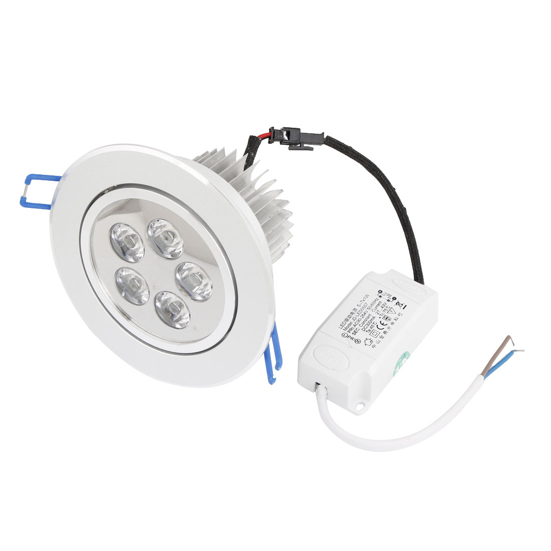 AC 194-264V 5W 5LEDs White LED Spot Recessed Ceiling Down Light Lamp Bulb