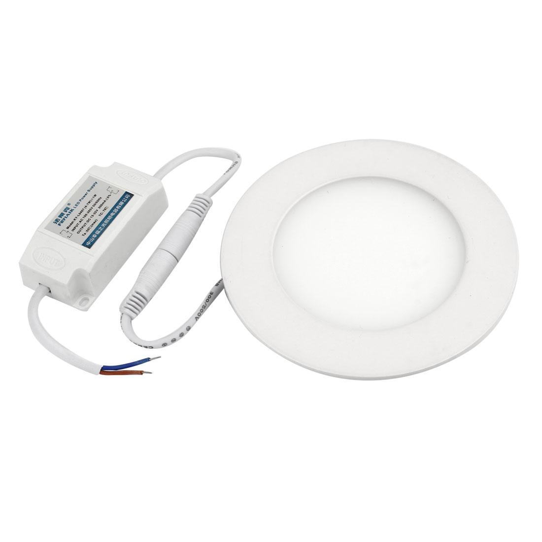 AC 110-265V 6W 30LEDs Round White LED Light Ceiling Panel Downlight Lamp Bulb