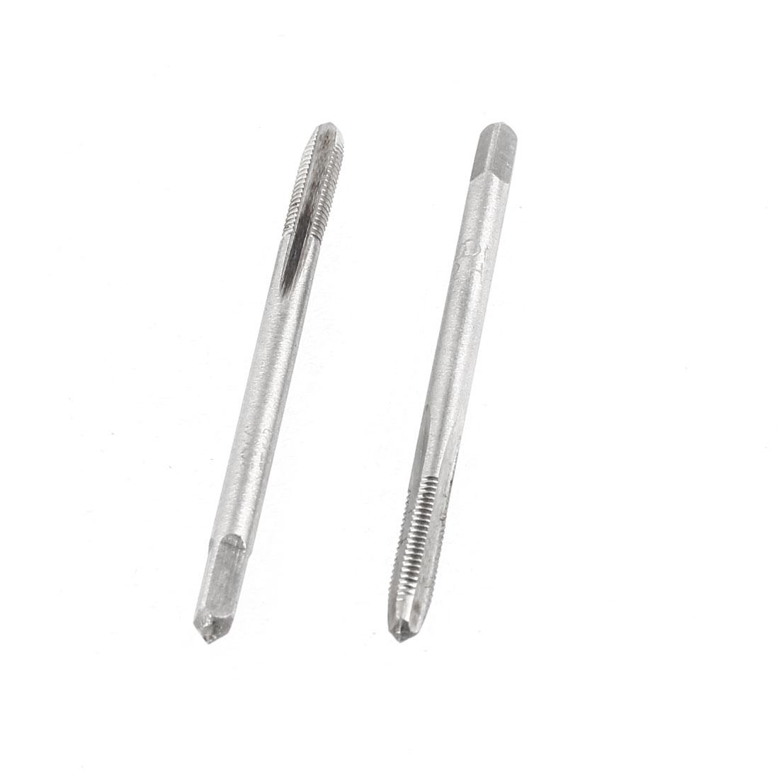 2 Pcs M3x14mm HSS 3 Flutes Machine Screw Thread Straight Metric Taps