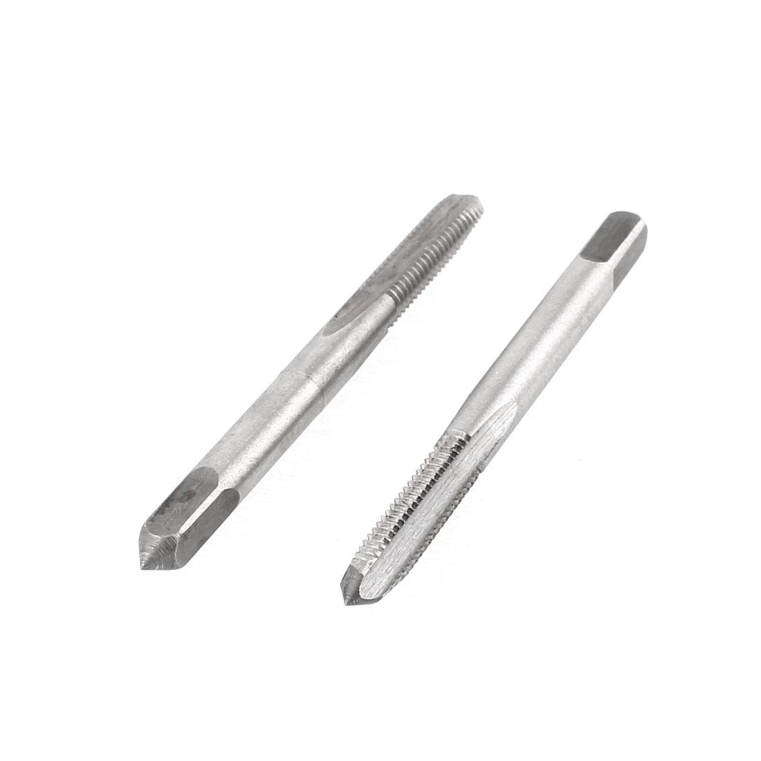 2 Pcs M5x20mm HSS 3 Flutes Straight Machine Screw Thread Metric Plug Taps