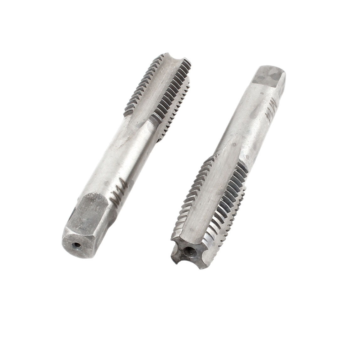 2 Pcs M14x32mm HSS 4 Flutes Hand Screw Thread Straight Metric Taps