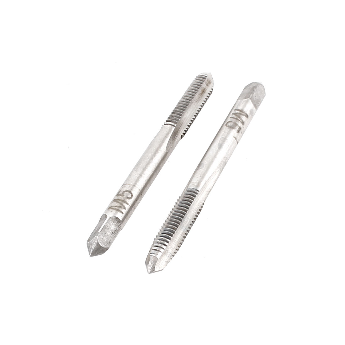 2 Pieces M5x20mm HSS 3 Flutes Hand Screw Thread Straight Metric Taps