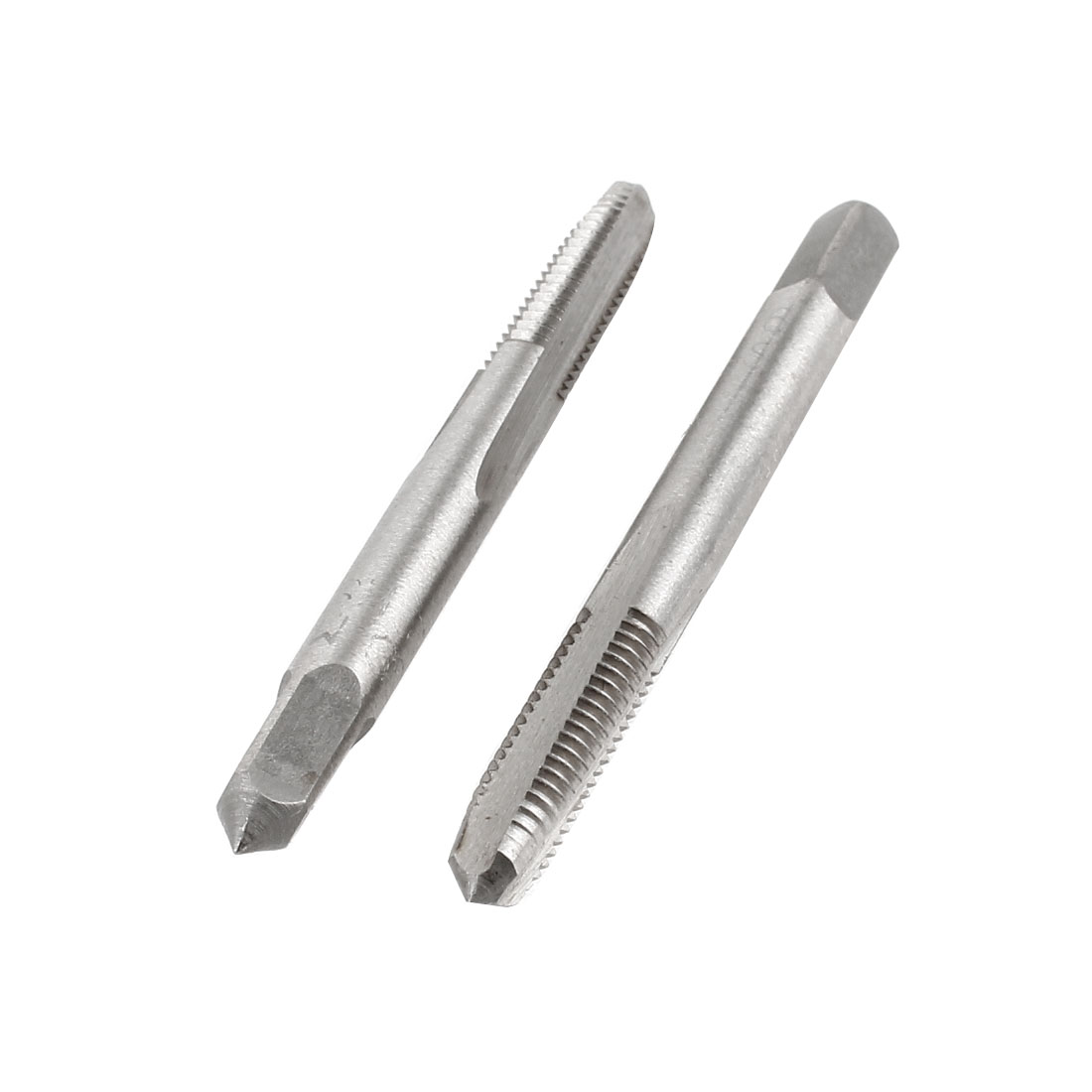 2 Pcs M6x22mm HSS 3 Flutes Machine Screw Thread Straight Metric Taps