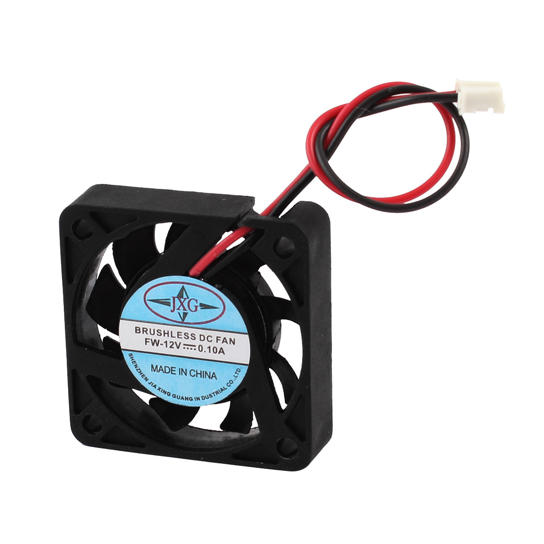 DC 12V 0.10A 2 Terminals Plastic Brushless 9 Flabellums Cooler CPU Fan Black 40mm x 40mm x 10mm
