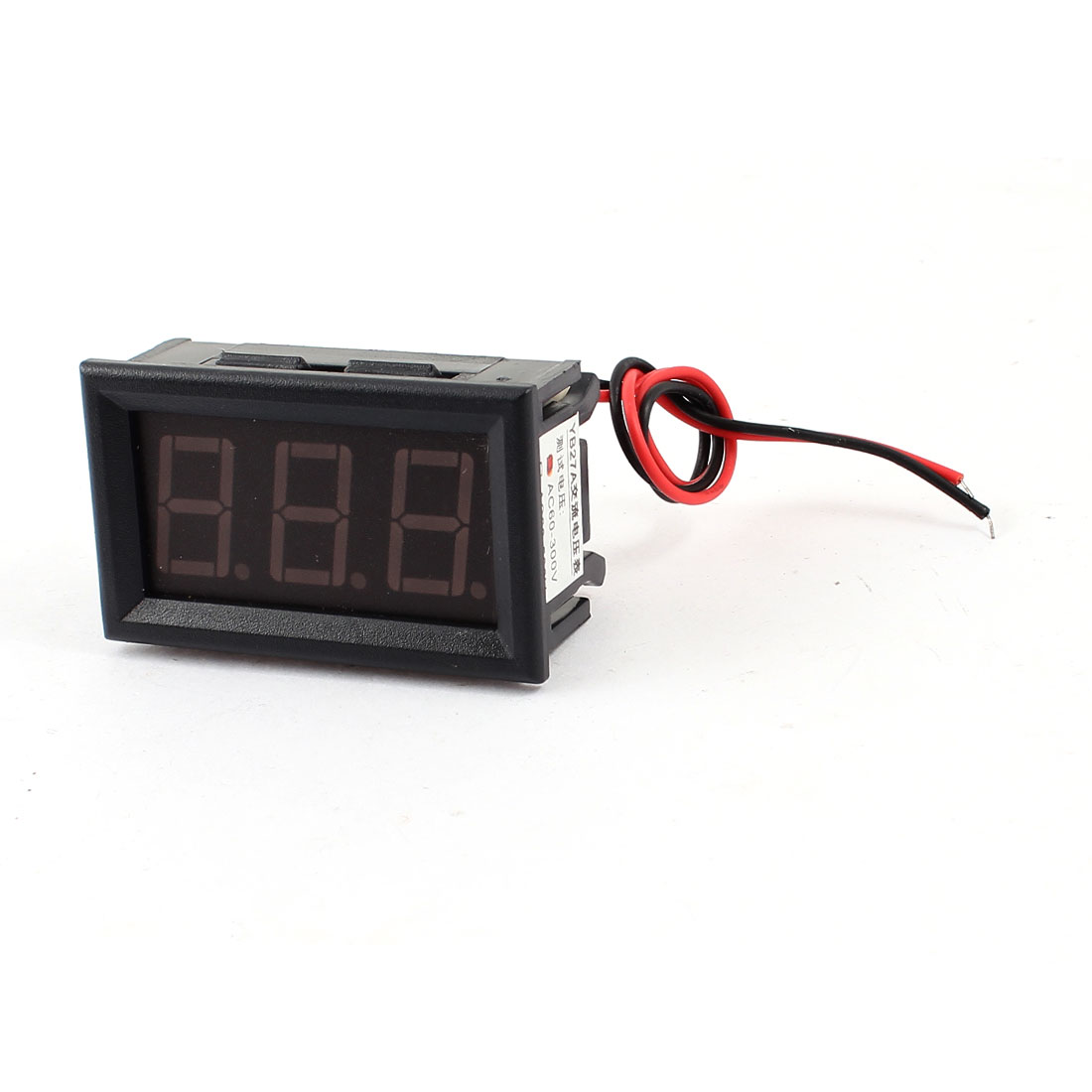 Panel Mounting AC 60-300V Red LED Display Screen Digital Voltmeter