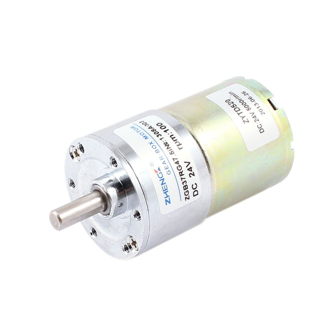 6mm Shaft 100RPM Output Speed 24V Reduce DC Magnetic Geared Motor