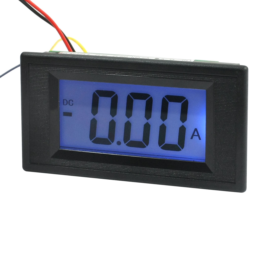 DC 5A Blue LCD Digital Display Ampere Meter Ammeter Panel Gauge