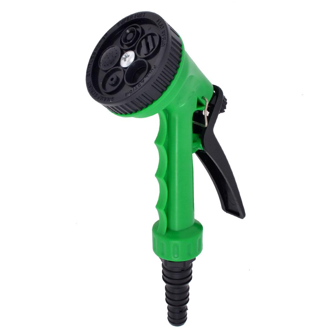 Garden Lawn Green Plastic Rear Trigger Hose Spray Nozzle