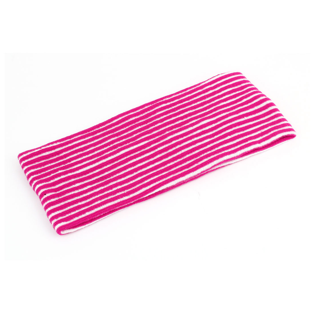 Magenta White Stripe Pattern Stretchy Face Washing Shower Hairband Hair Holder for Women