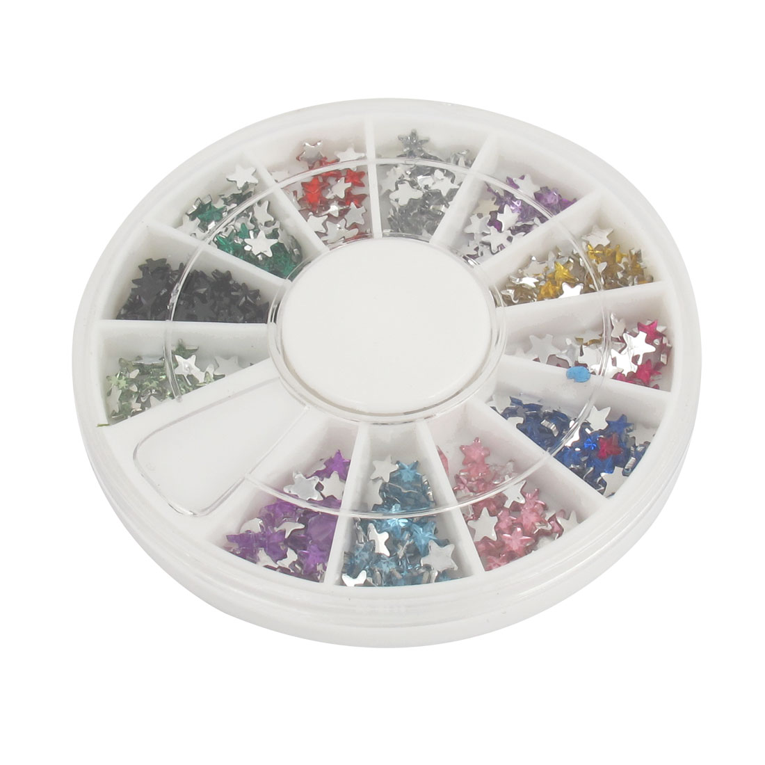 A Wheel Fingers Decor Assorted Color Stars Style Nail Art Rhinestone