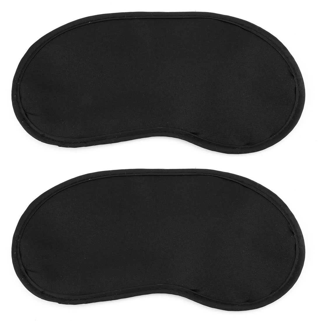 Elastic Strap Black Eye Mask Eyeshade Sleep Blinder Shade Cover 2 Pcs