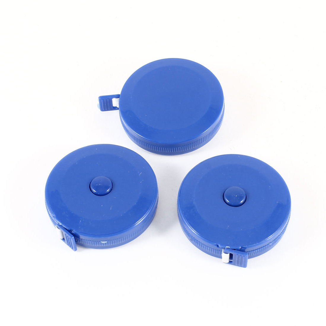3 Pcs Blue Round Case Retractable Sewing Tape Measure 150cm 60""