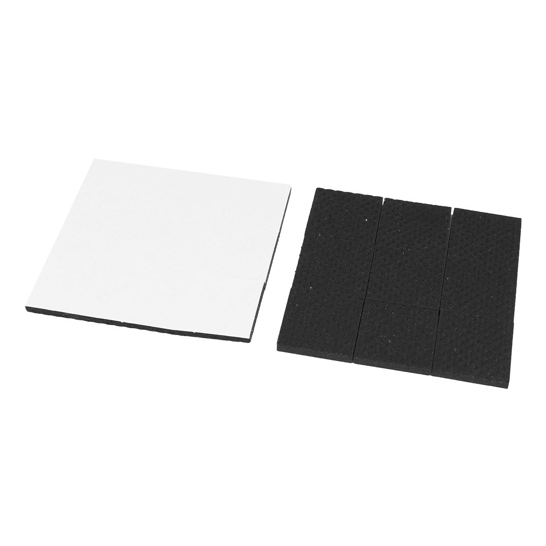 Square Shaped Black Foam Adhesive Furniture Protection Mat Pad 18 Pcs