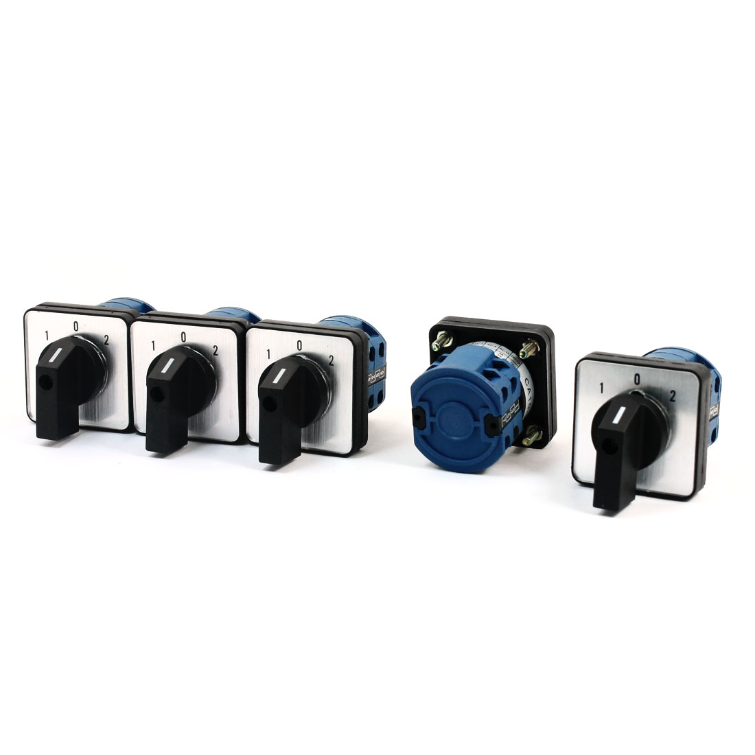 5Pcs CA10-20/2 Ui 660V Ith 20A 8 Screw Terminal 2-Pole 3-Position Square Panel Mounting Rotary Cam Changeover Switch
