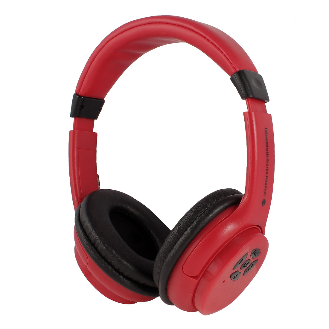 Red Adjustable Headband Headset Wireless Stereo bluetooth Headphone w Microphone