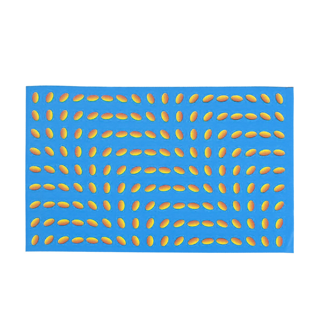 "Oval Dots Pattern 15.6"" Laptop Notebook Decor Vinyl Skin Decal Sticker Yellow Blue 26x38cm"