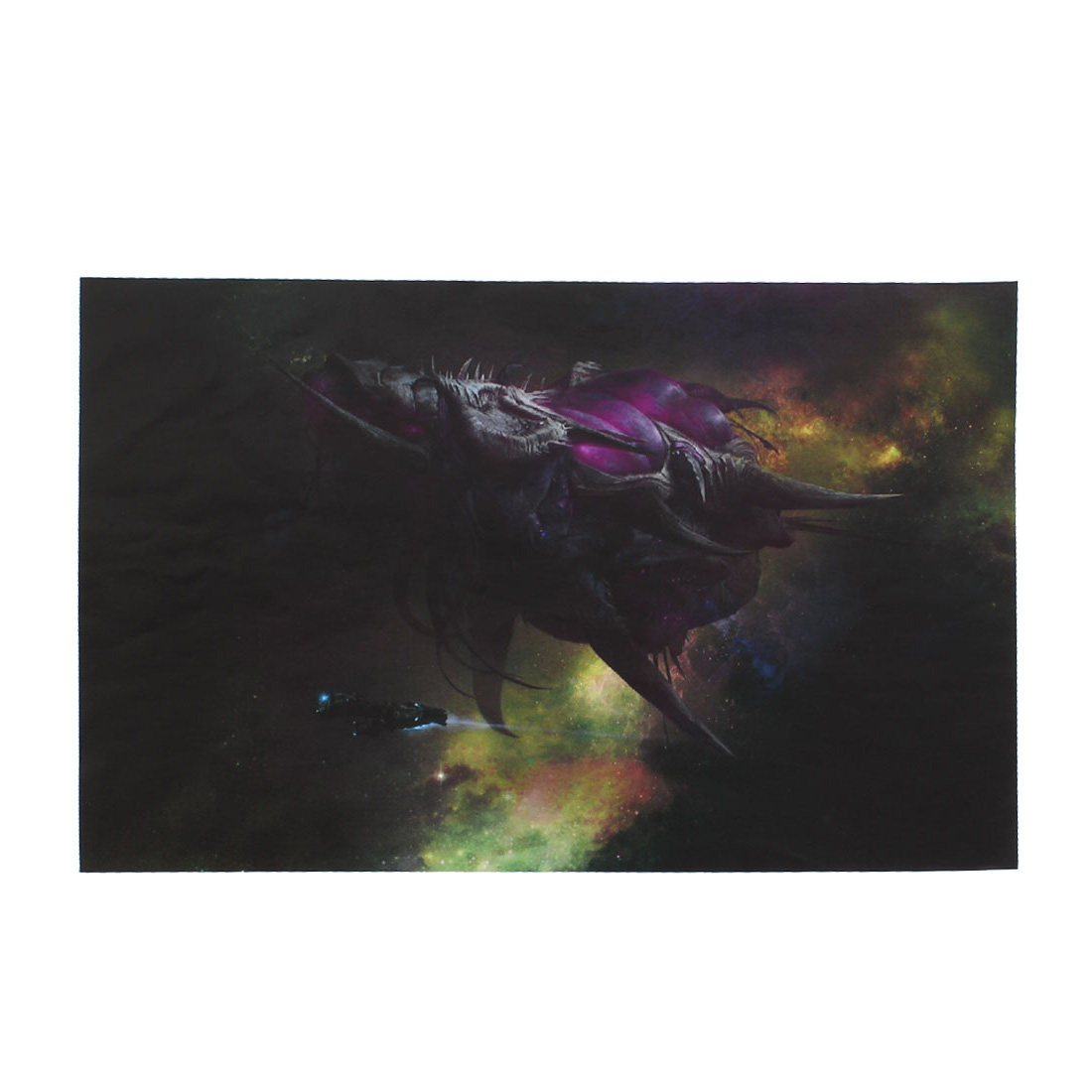 "Zerg Battleship Pattern 15.6"" Laptop Notebook Decor Vinyl Skin Decal Sticker Black 26x38cm"