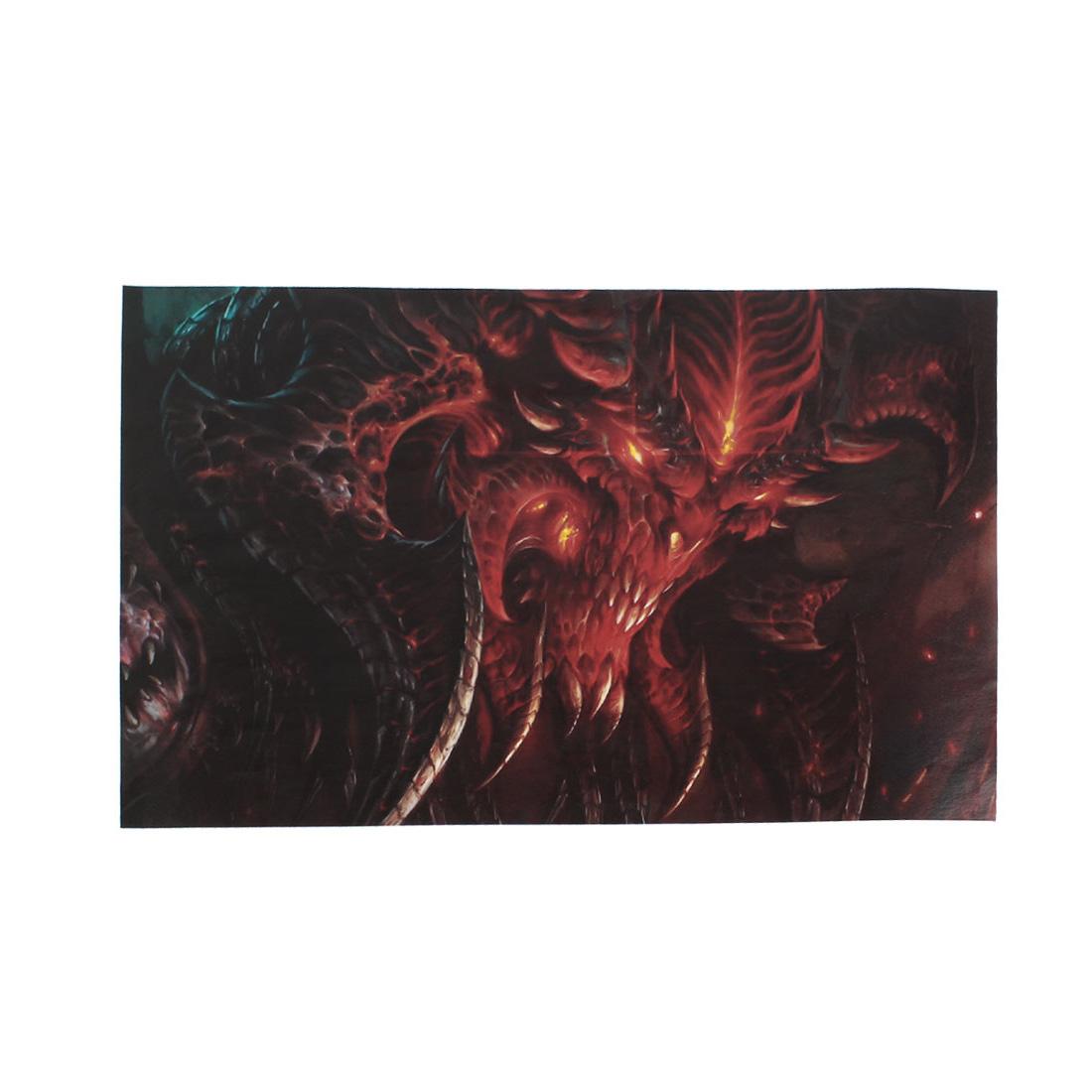 """Demon Pattern 15.6"""" Laptop Notebook Decor Vinyl Skin Decal Sticker Red Black 26x38cm"""
