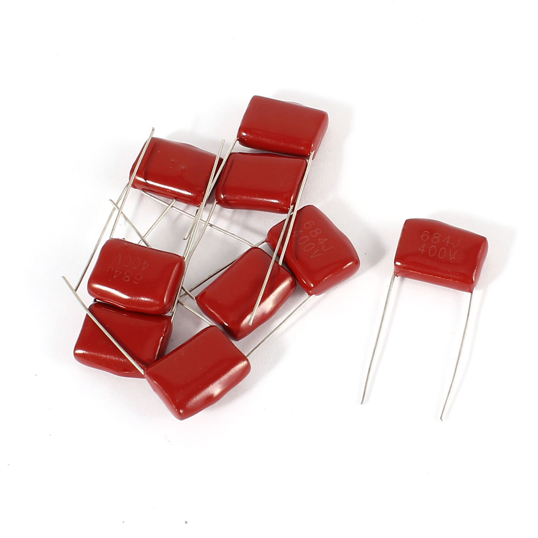 9pcs 400V 684J 0.68uf Radial Lead Through Hole Mounting Metallized Polypropylene Film Capacitors