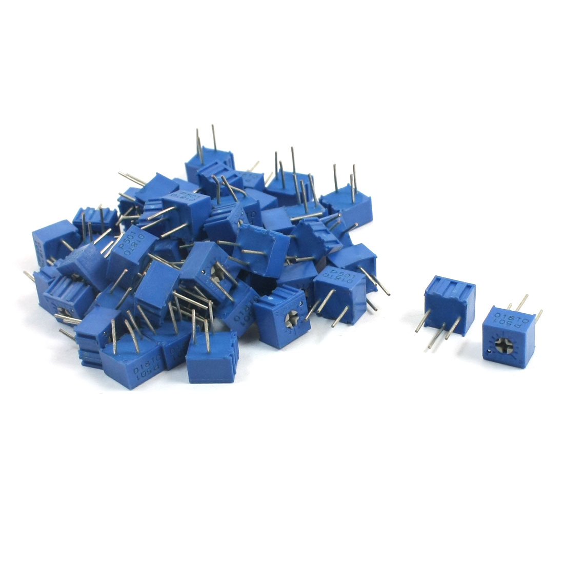 50 Pcs 3362P-1-501 500 Ohm 500V Trimmer Pot Cermet Variable Resistor Potentiometers
