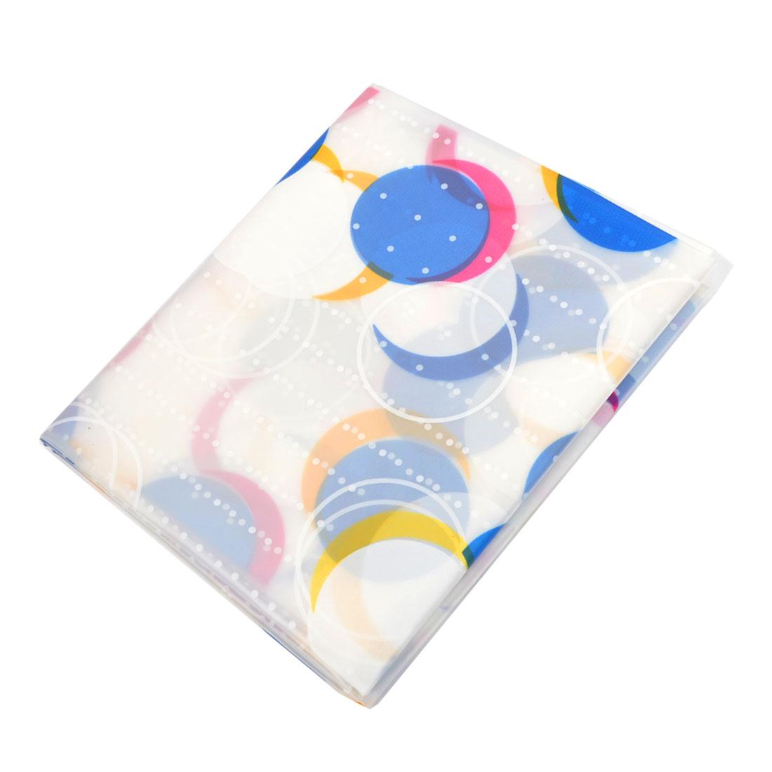 Water Resistant Dot Pattern Bath Shower Curtain 180cm x 180cm w Hooks Rings