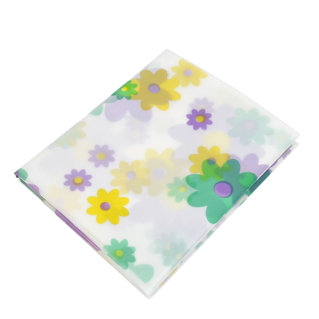 "Bathroom Waterproof Floral Print Plastic Bath Shower Curtain 71"" x 71"""