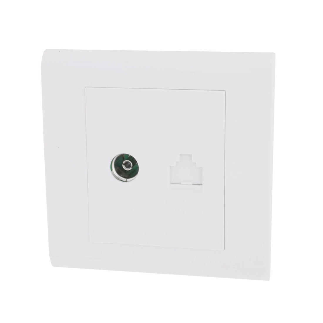 Office White Computer Television TV RJ45 Network Outlet Wall Panel Plate