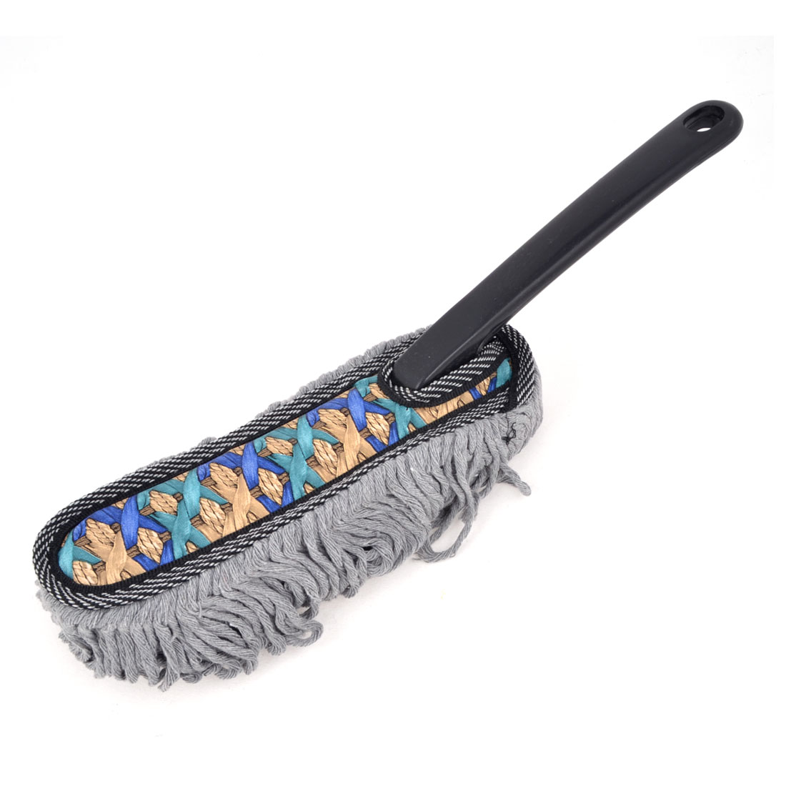"15"" Length Handy Microfiber Auto Car Cleaning Brush Duster Black Gray"