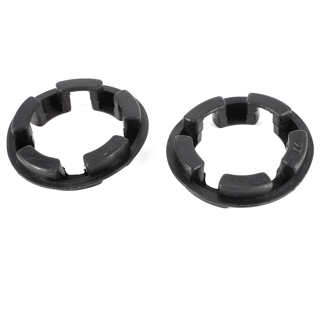 2Pcs Rubber 97mm x 65mm x 12mm Shaft Coupling Insert Spider Black