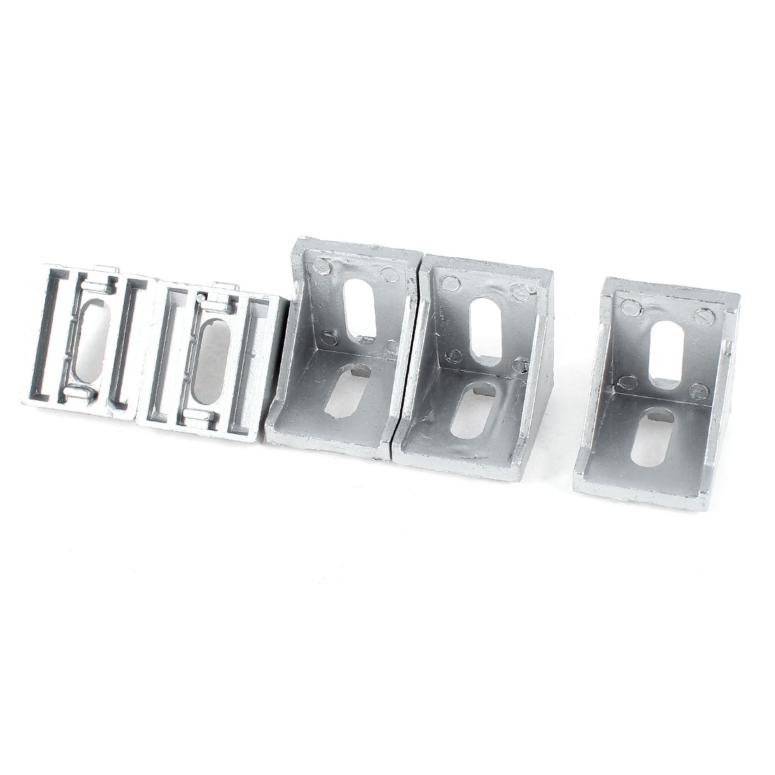 5 Pcs 40mm x 40mm 90 Degree Furniture Door Corner Brace Angle Bracket