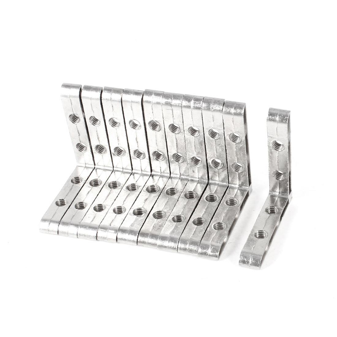 10 Pcs Angle Plate Corner Brace Flat L Shape Repair Bracket 50mm x 50mm