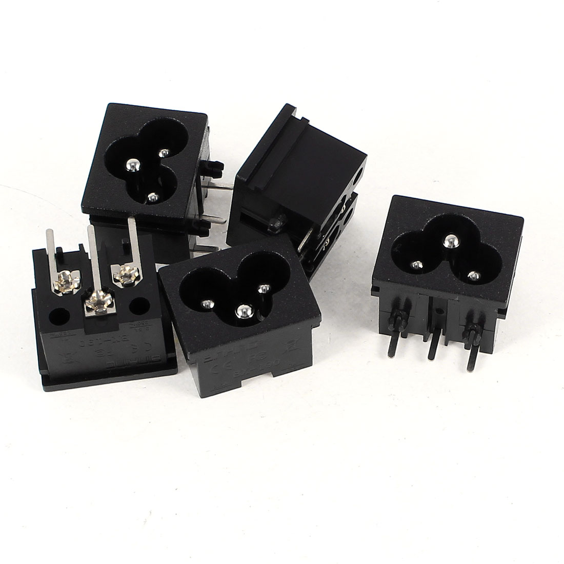 5 Pcs AC 250V/125V 2.5A/7A IEC320 C6 Male Power Inlet Socket Adapter
