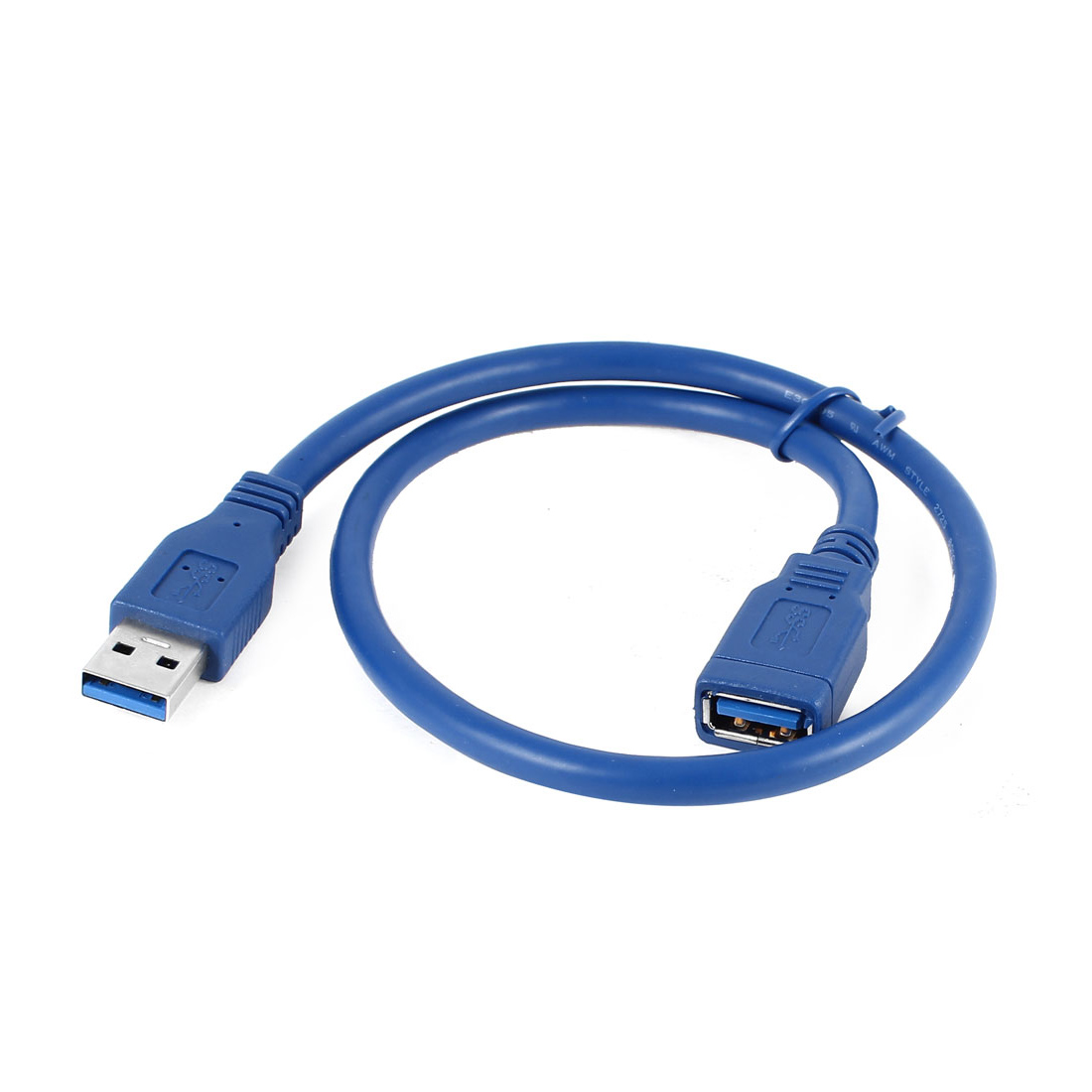 50cm USB 3.0 A Male to Female Extension Data Sync Transfer Cord Cable Lead Blue