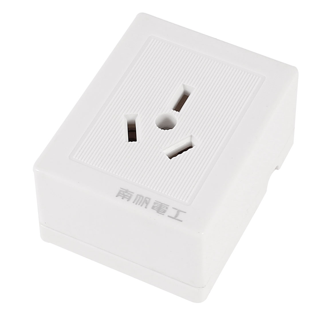 AC 250V 10A AU Socket White Plastic Shell Rectangle Shaped Wall Outlet Plate