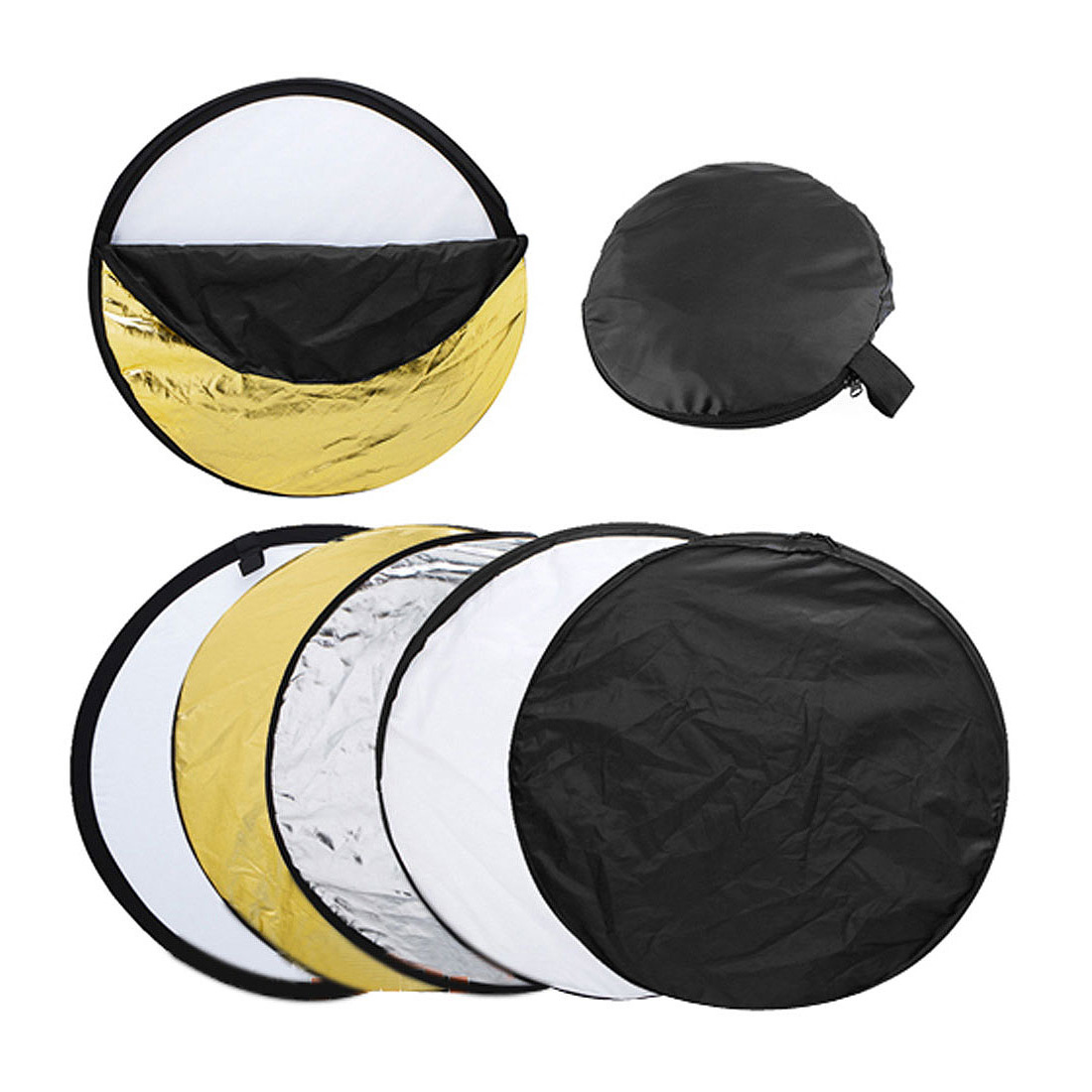 56cm 5-in-1 Photography Studio Multi Photo Disc Collapsible Light Reflector