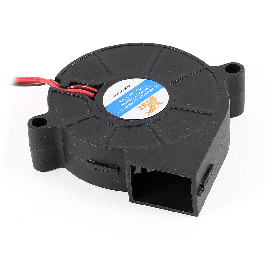 DC Brushless 2 Wires Cooling Blower Fan Cooler 5015S 50mmx15mm Black DC 24V 0.1A
