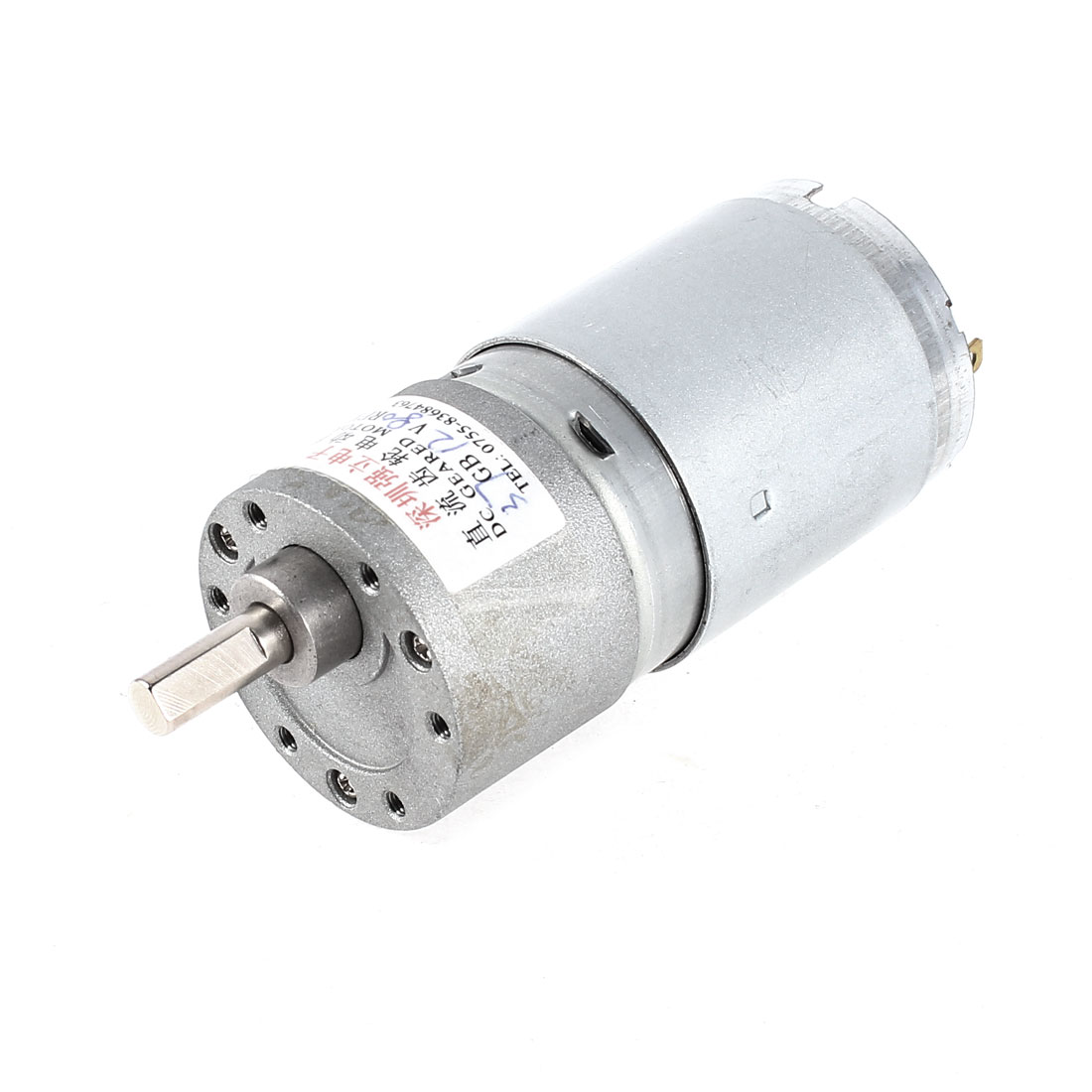 DC 12V 80RPM 6mm Diameter Shaft Cylinder Electric Geared Box Speed Reduce Motor