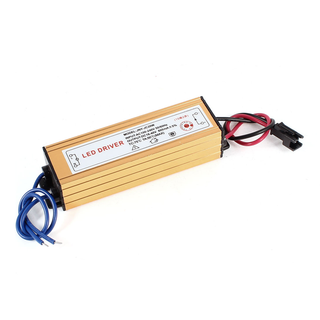 AC 100-240V 50/60Hz DC 18-40V 600mA 20W LED Driver Power Supply Converter
