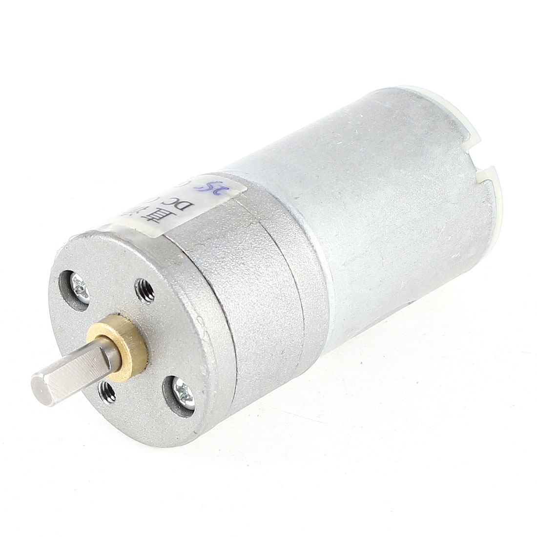 DC 12V 1500RPM 4mm D Shaped Shaft Cylinder Electric Geared Box Speed Reduce Motor