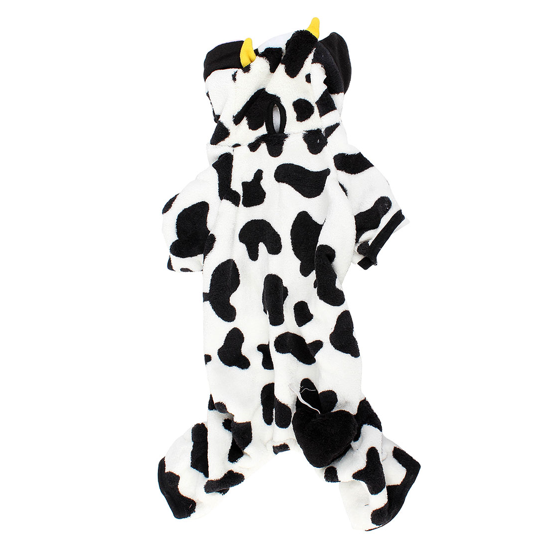 Pet Dog Doggie Pullover Cow Print Hoodie Coat Apparel Clothes White Black Size XL