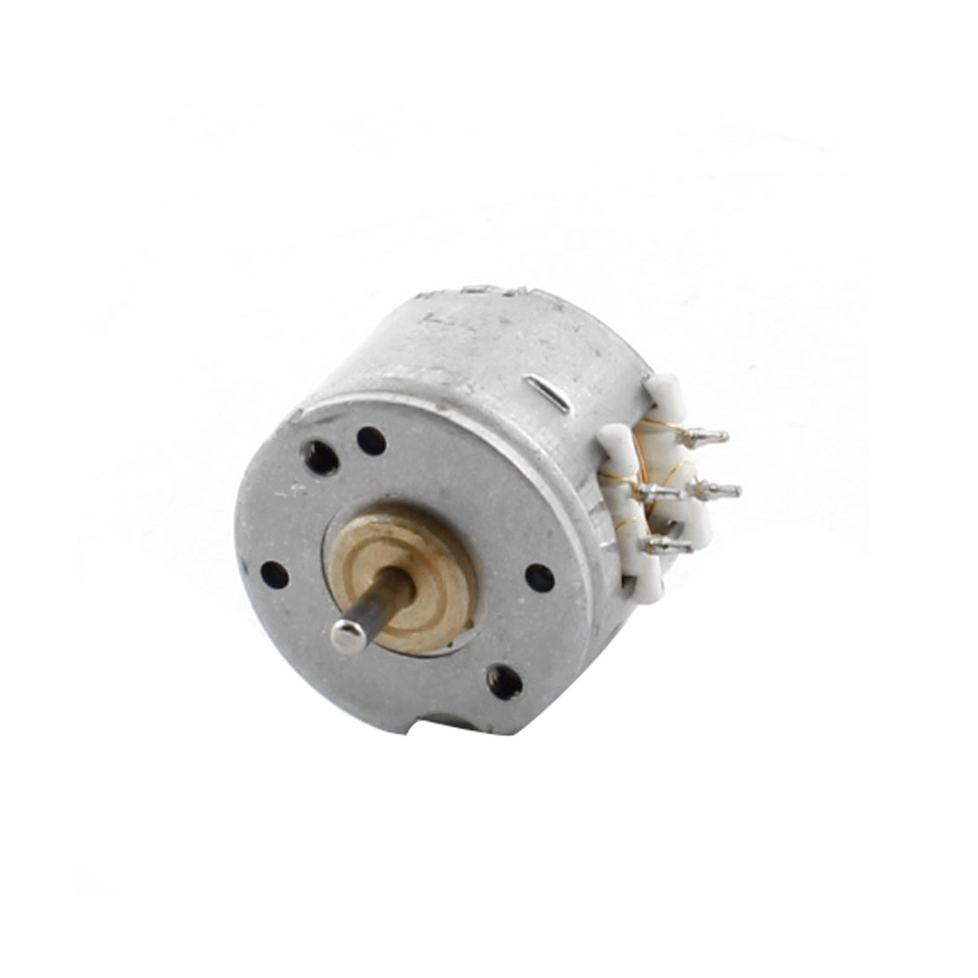 28000RPM DC 3.5V 0.3mA Two Phase Four Wire 15mm Metal Stepper Motor Silver Tone