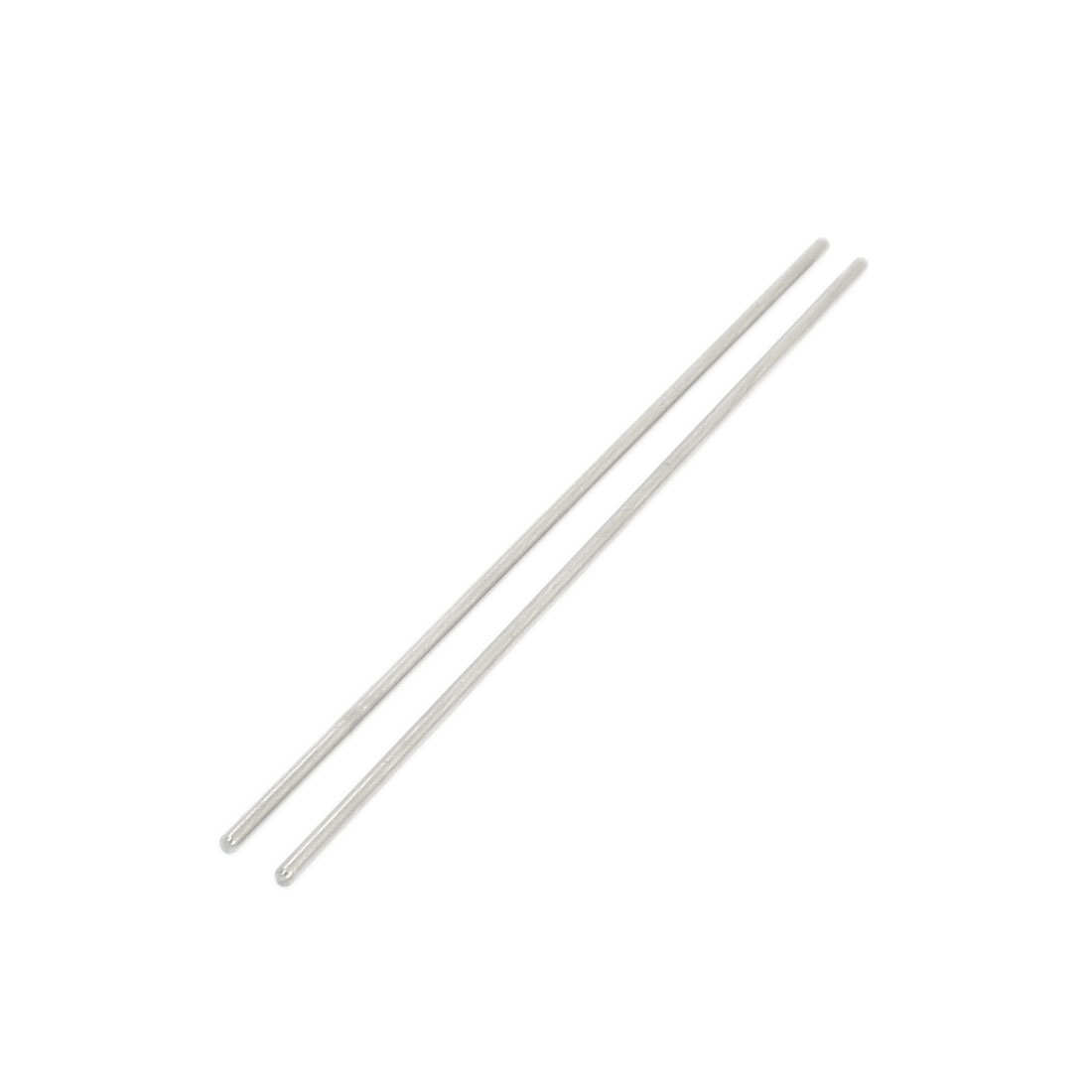 "2Pcs 2mm Diameter Stainless Steel Motion Axle Circular Round Rod Bar 4.7"" Long"