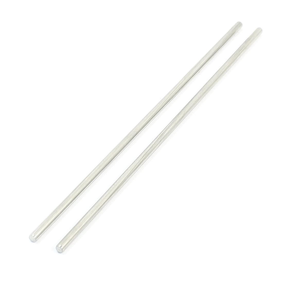 "2Pcs 2.5mm Diameter Stainless Steel Motion Axle Circular Round Rod Bar 4.7"" Long"