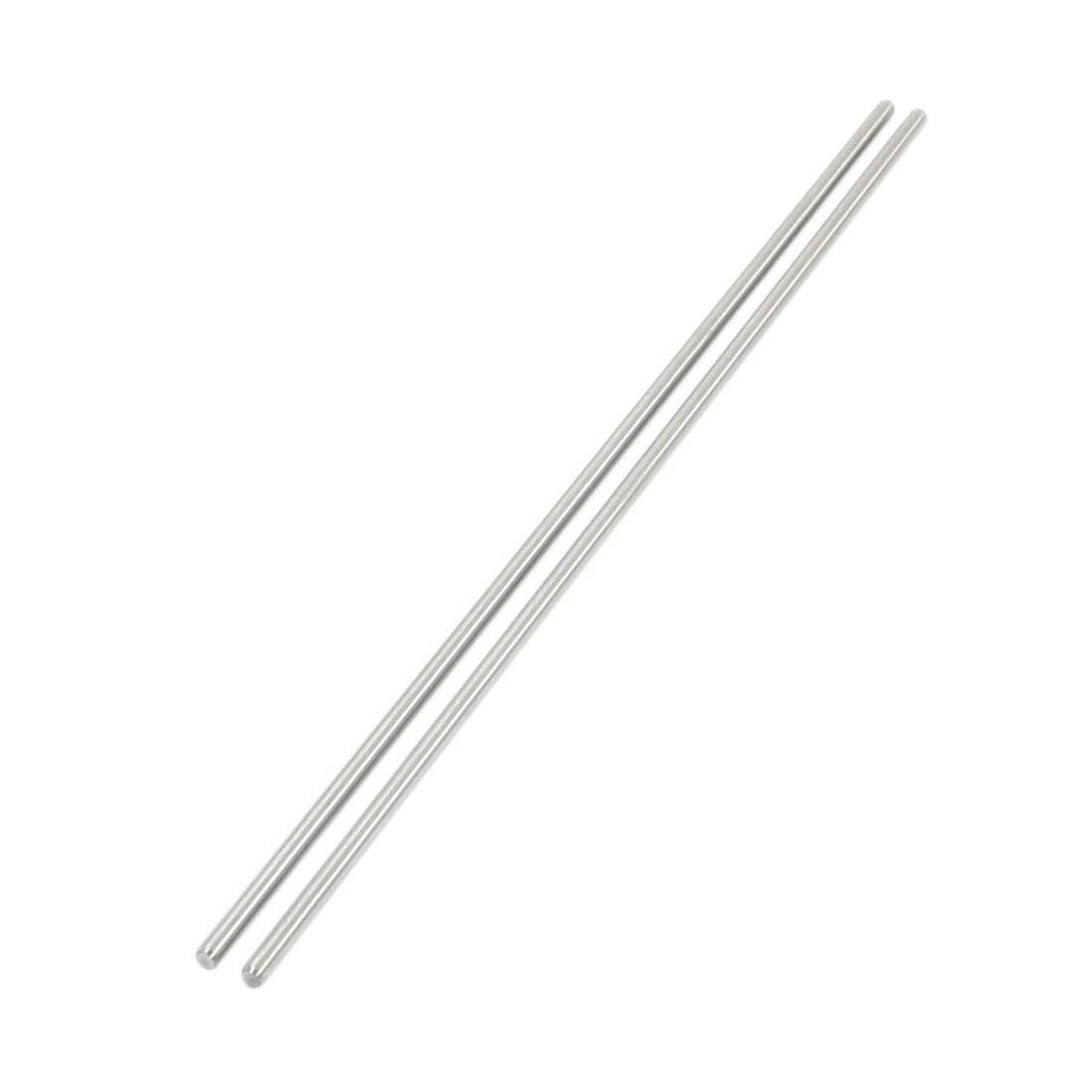 "2Pcs 2mm Diameter Stainless Steel Motion Axle Circular Round Rod Bar 5.5"" Long"