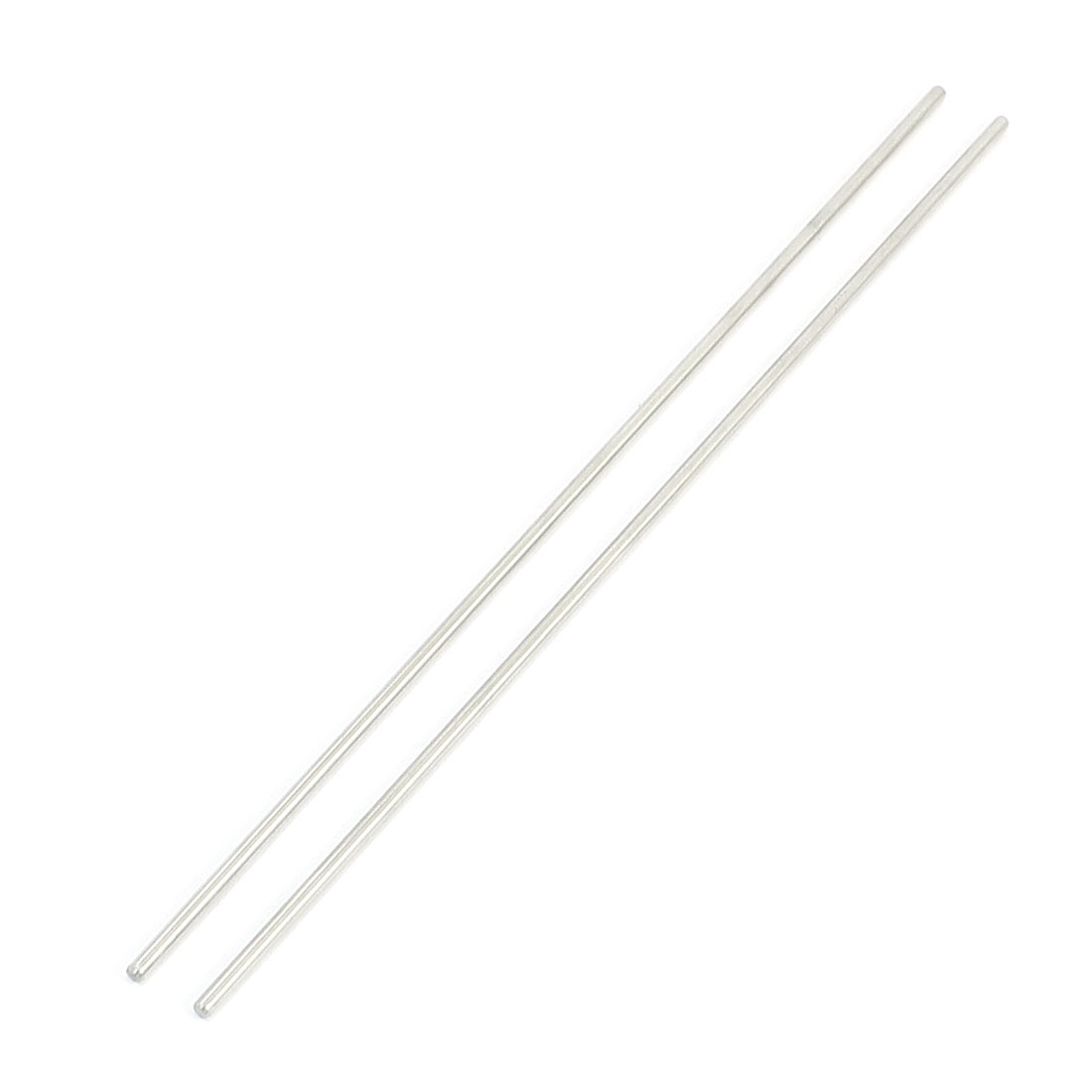 "2Pcs 2mm Diameter Stainless Steel Motion Axle Circular Round Rod Bar 5.9"" Long"