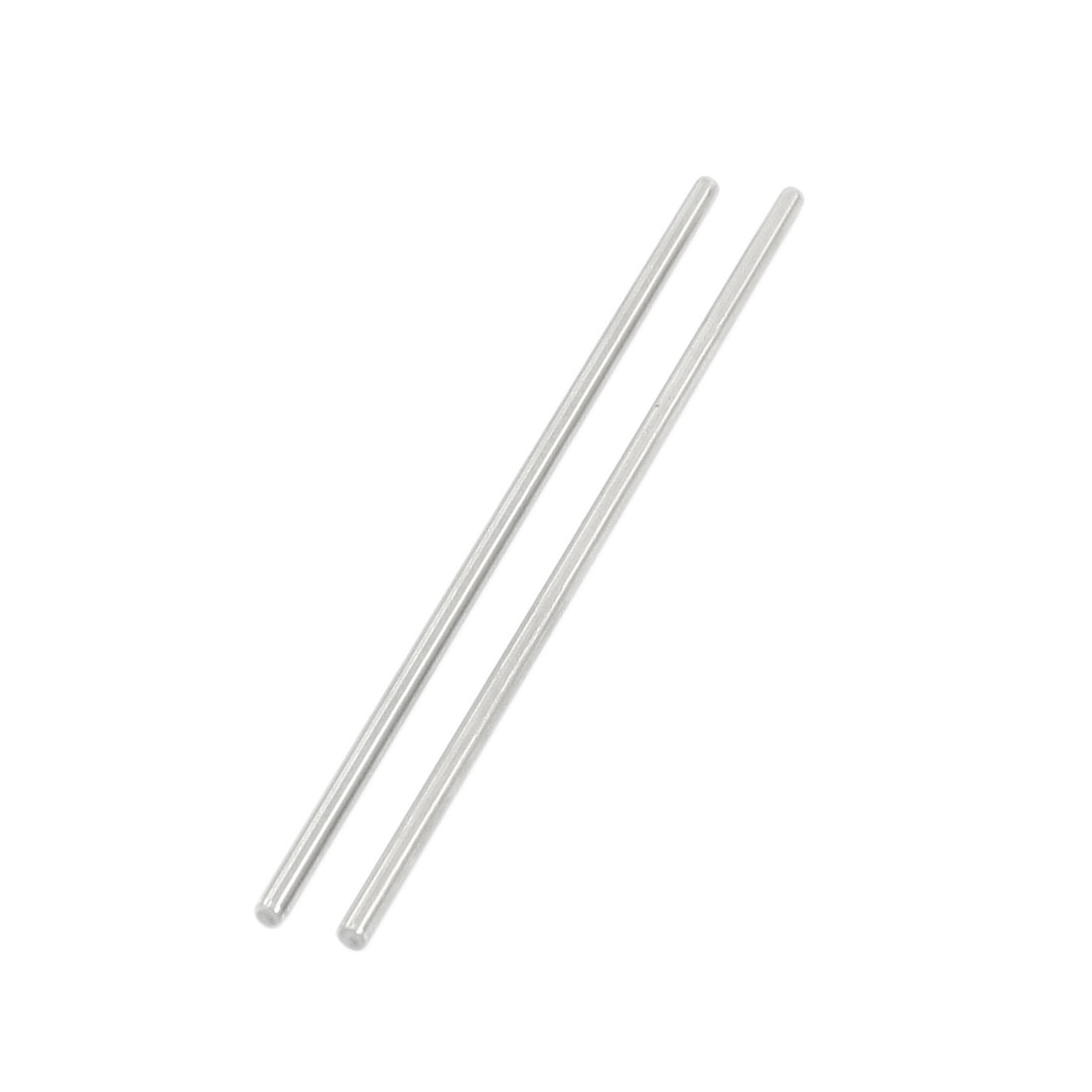 2Pcs 3mm Diameter Stainless Steel Motion Axle Circular Round Rod Bar 110mm Long