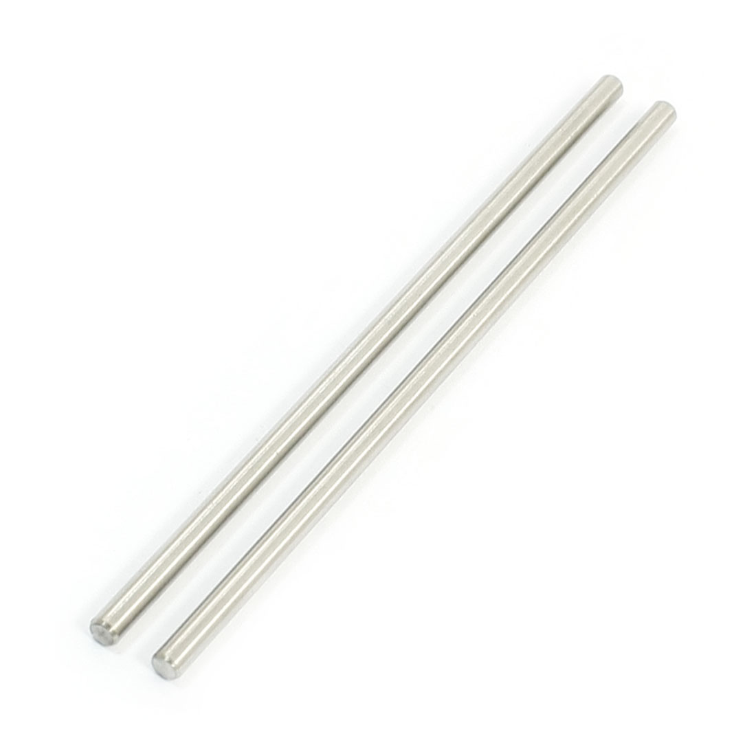 "2Pcs 3mm Diameter Stainless Steel Motion Axle Circular Round Rod Bar 3.5"" Long"